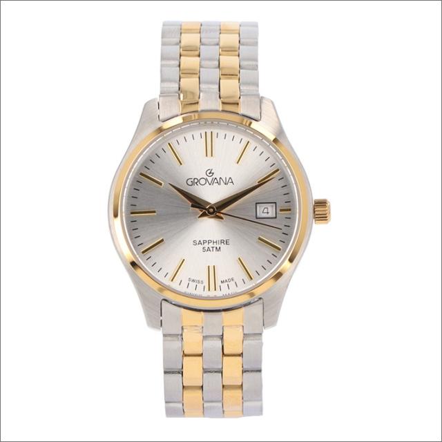 グロバナ GROVANA 腕時計 5568.1142 28mm クォーツ カレンダー メタルベルト