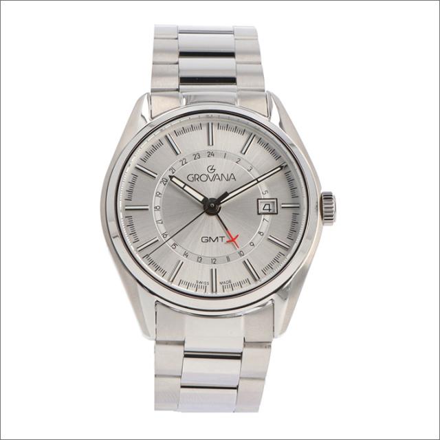 グロバナ GROVANA 腕時計 1547.1132 42mm クォーツ カレンダー GMT メタルベルト