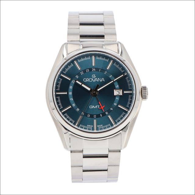 グロバナ GROVANA 腕時計 1547.1135 42mm クォーツ カレンダー GMT メタルベルト