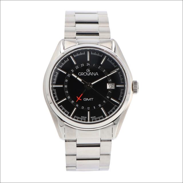 グロバナ GROVANA 腕時計 1547.1137 42mm クォーツ カレンダー GMT メタルベルト
