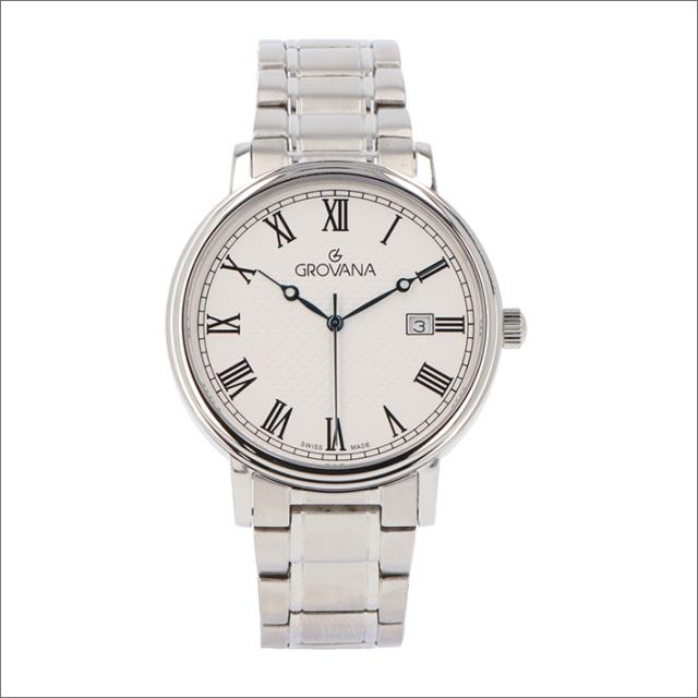 グロバナ GROVANA 腕時計 1550.1138 40mm クォーツ カレンダー メタルベルト