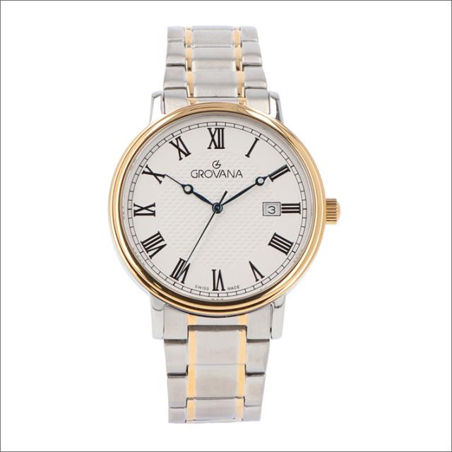 グロバナ GROVANA 腕時計 1550.1148 40mm クォーツ カレンダー メタルベルト