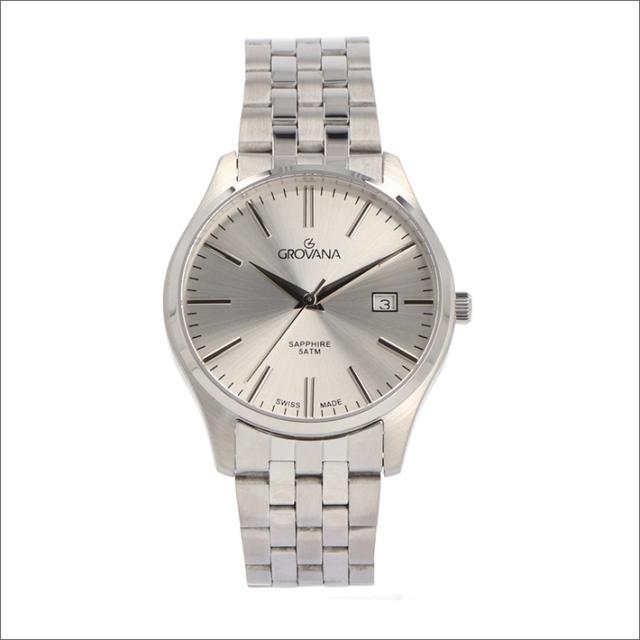 グロバナ GROVANA 腕時計 1568.1132 40mm クォーツ カレンダー メタルベルト