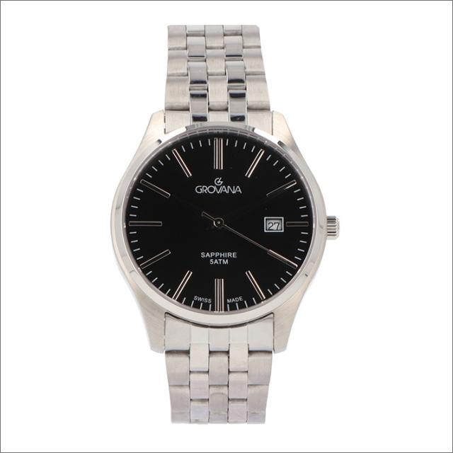 グロバナ GROVANA 腕時計 1568.1137 40mm クォーツ カレンダー メタルベルト