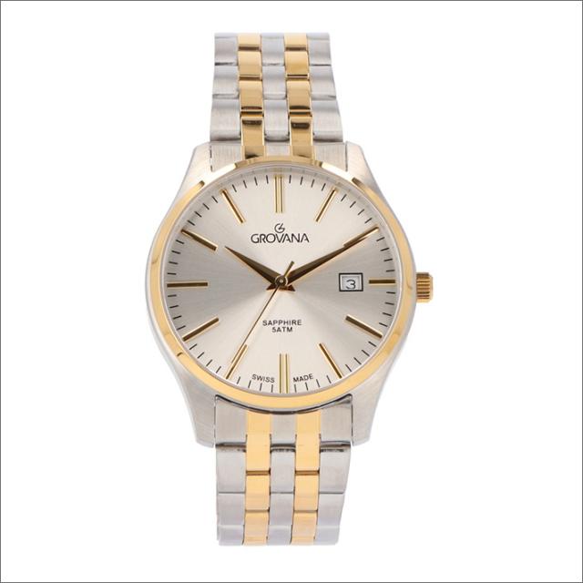 グロバナ GROVANA 腕時計 1568.1142 40mm クォーツ カレンダー メタルベルト