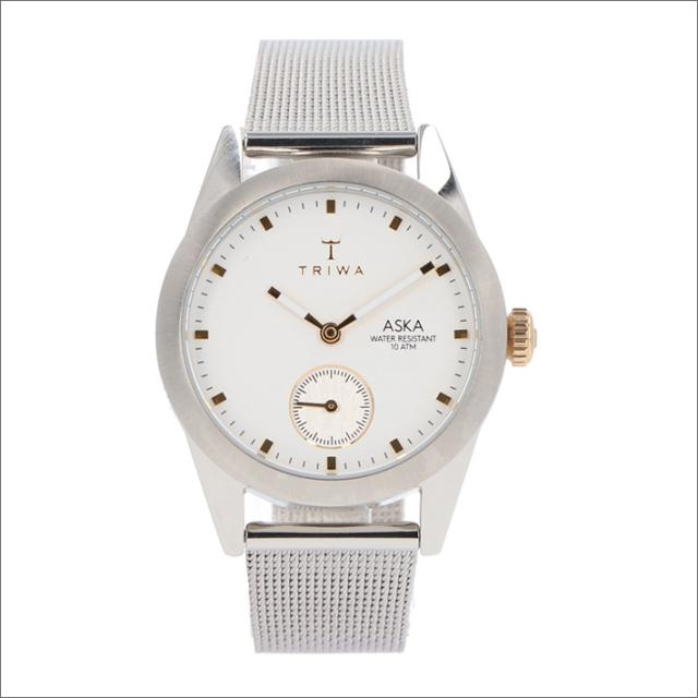 トリワ TRIWA 腕時計 AKST102-MS121212 クォーツ 32mm SNOW ASKA SILVER SLIM MESH