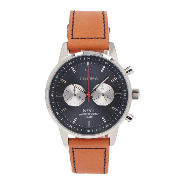 トリワ TRIWA 腕時計 NEST108:2-SC010216 クォーツ 42mm BLUE STEEL NEVIL BROWN SEWN CLASSIC 3