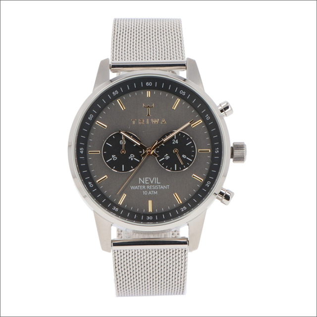 トリワ TRIWA 腕時計 NEST114-ME021212 クォーツ 42mm SMOKY NEVIL STEEL MESH