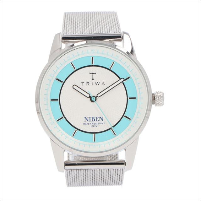 トリワ TRIWA 腕時計 NIST106-ME021212 クォーツ 38mm AZURE NIBEN STEEL MESH