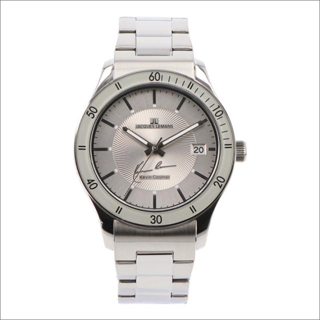 ジャックルマン JACQUES LEMANS 腕時計 11-1622-8 ケビン・コスナー コレクション ローマ 44mm メンズ クォーツ メタルベルト