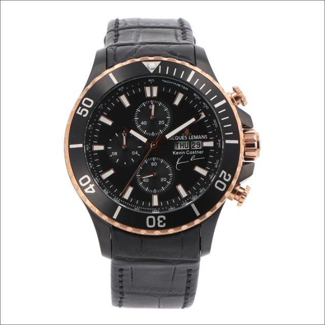 ジャックルマン JACQUES LEMANS 腕時計 11-1787-1 ケビン・コスナー コレクション 42mm メンズ クォーツ レザーベルト