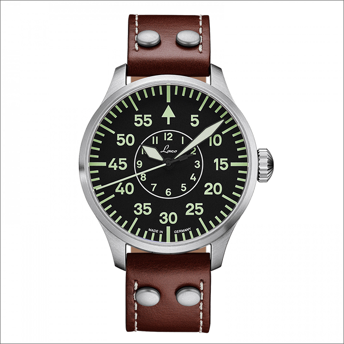 Laco ラコ 腕時計 861690.2 PILOT Aachen 42 アーヘン 42 機械式自動巻 レザーベルト
