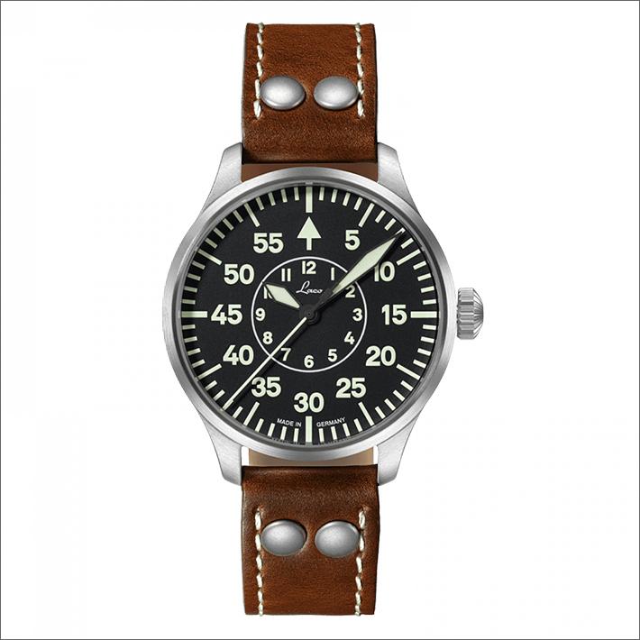Laco ラコ 腕時計 861990 PILOT Aachen 39 アーヘン 39 機械式自動巻 レザーベルト