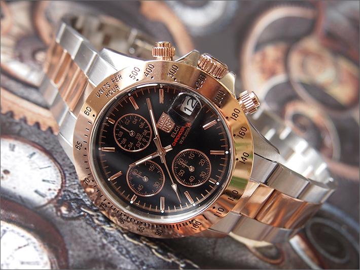 エルジン ELGIN 腕時計 クロノグラフ FK1184PG-B ピンクゴールド メタルベルト