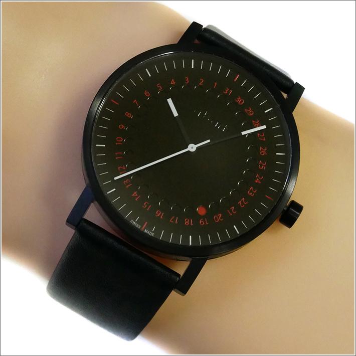 エービーアート a.b.art 腕時計 SERIES O O-150 ブラック文字盤 41mm ブラック カーフレザー クォーツ