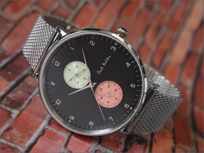 ポールスミス PAUL SMITH 腕時計 PS0070006 TRACK DESIGN メンズ メッシュメタルベルト