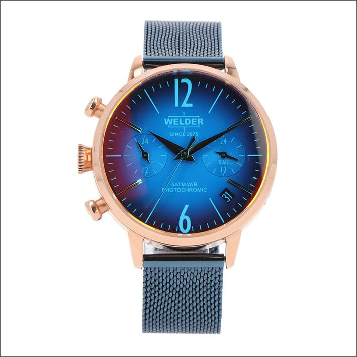 ウェルダー WELDER 腕時計 WWRC717 クォーツ 36mm メッシュメタルベルト 日付・デュアルタイム表示