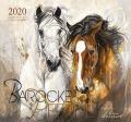 BOISELLE カレンダー2020 Lサイズ Baroque Horses(バロックホース)