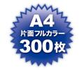A4片面フルカラー300枚