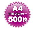 A4片面フルカラー500枚