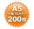 A5片面フルカラー200枚