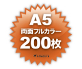 A5両面フルカラー200枚