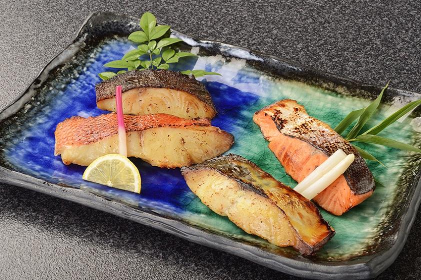 生塩糀仕立て西京焼4種セット(贈答箱) 金目鯛 さわら 銀だら サーモン 帰歳暮 ギフト お歳暮