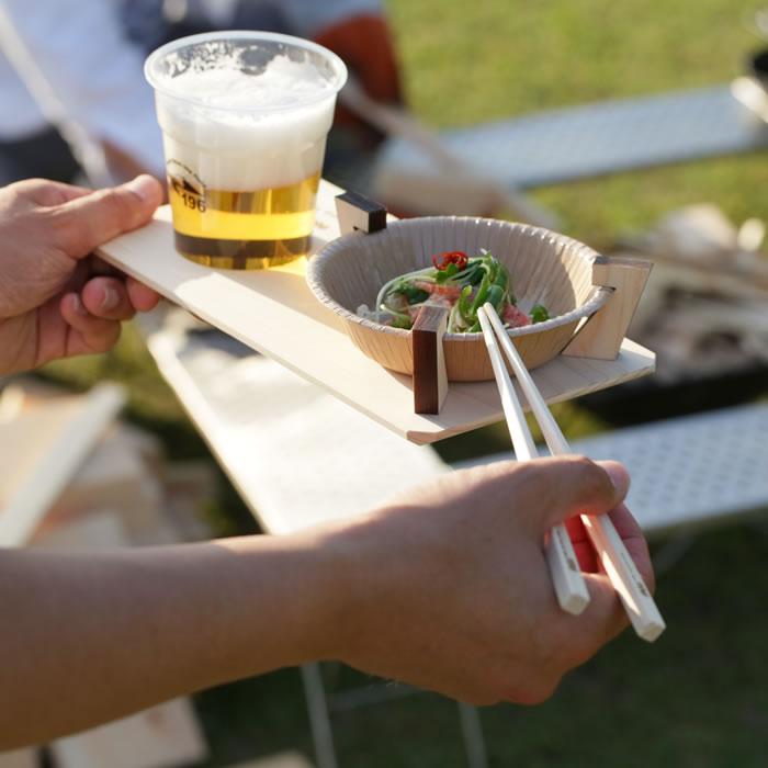 BBQ バーベキュー トレー トレイ 片手 持てる 紙皿 キャンプ アウトドア グルキャン ファミキャン