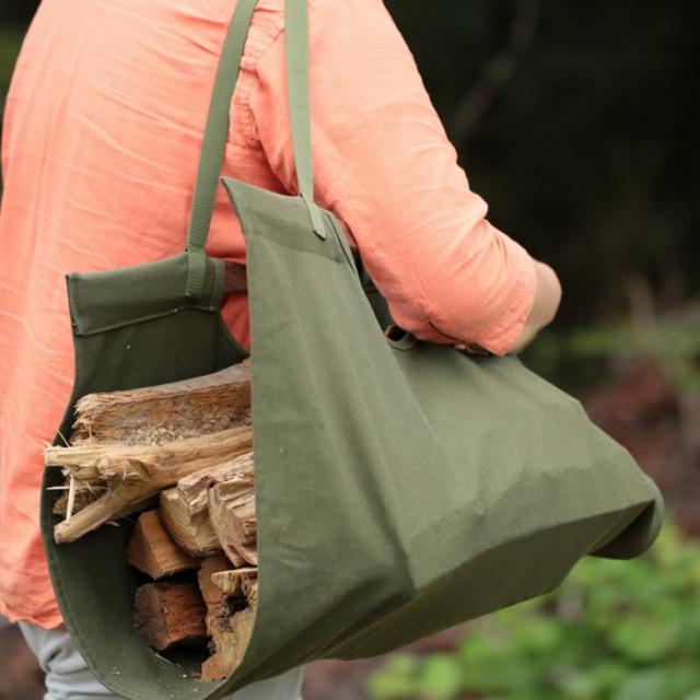 ログキャリー 薪入れ 焚き木 運搬 袋