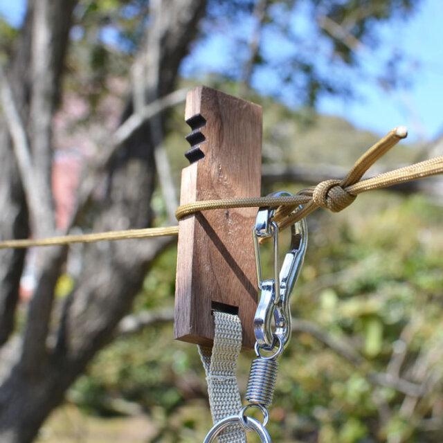キャンプ ソロキャンプ ロープ アジャスター 調整 物干し ランタン