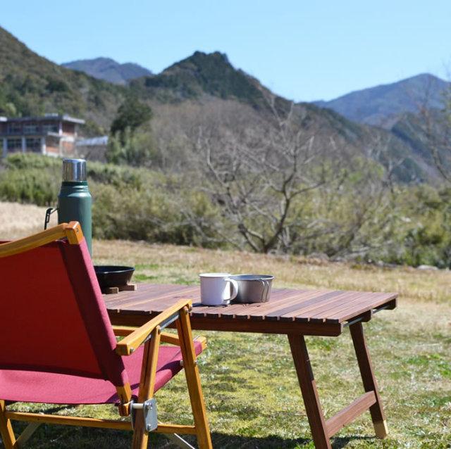 ウッドテーブル キャンプ テーブル 木製 KUROSON 370 196 ひのき ユニフレーム 焚き火テーブル