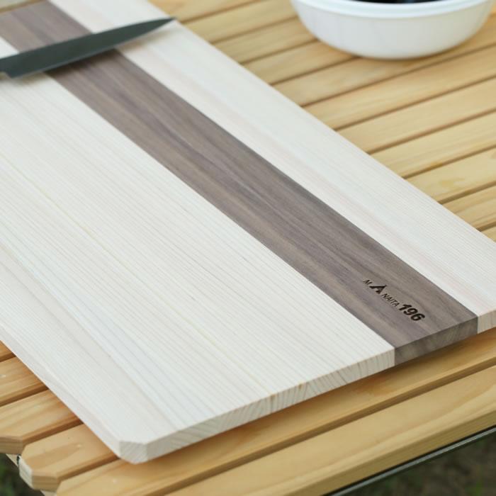 キャンプ まな板 木製 四万十 ひのき 料理 調理 ナイフ 包丁