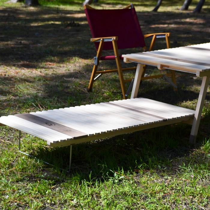 キャンプ テーブル ウッド 木製 KUROSON オプション サブテーブル