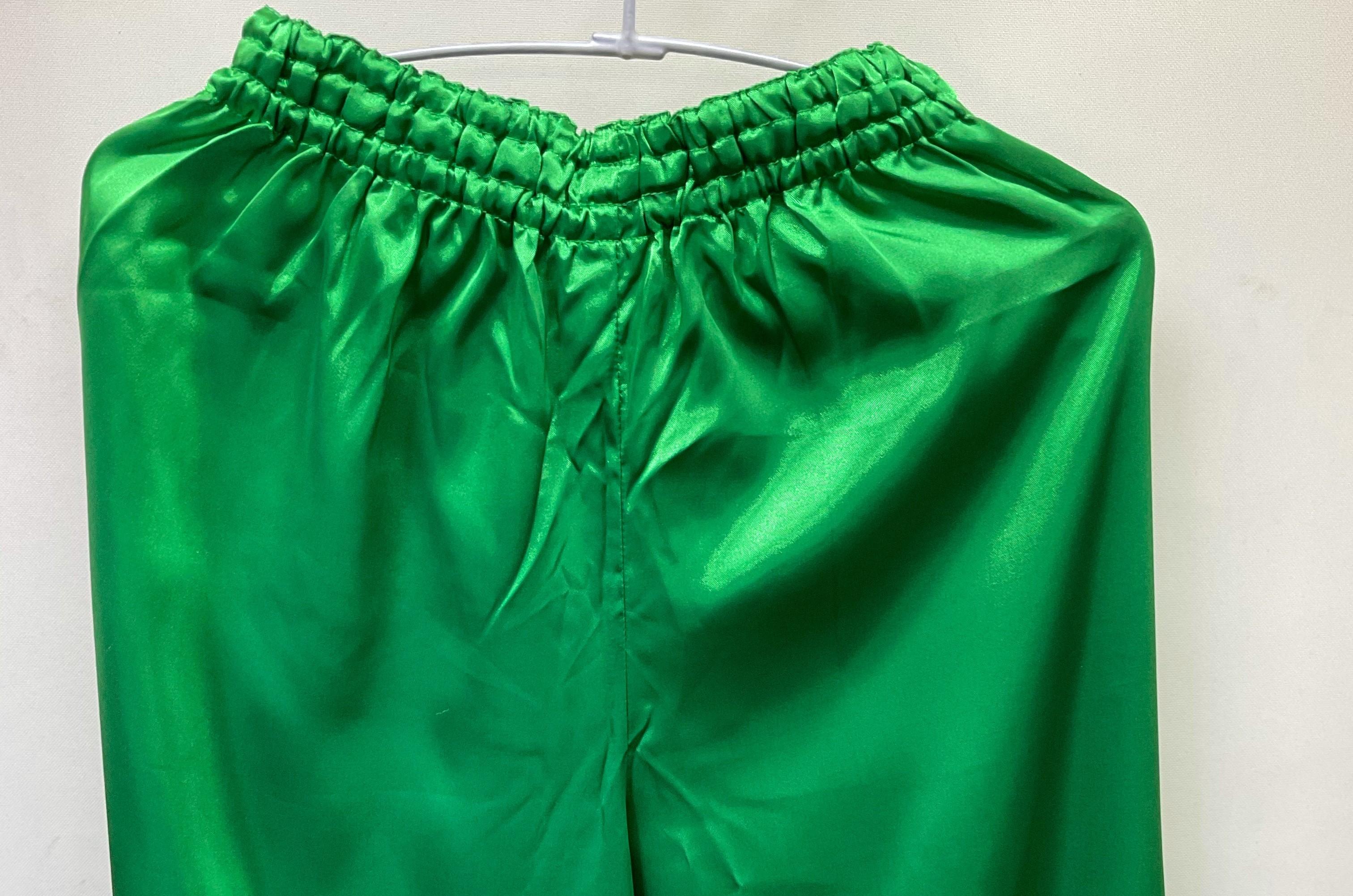 【ちょい傷特価】 サテン太極拳パンツ 緑