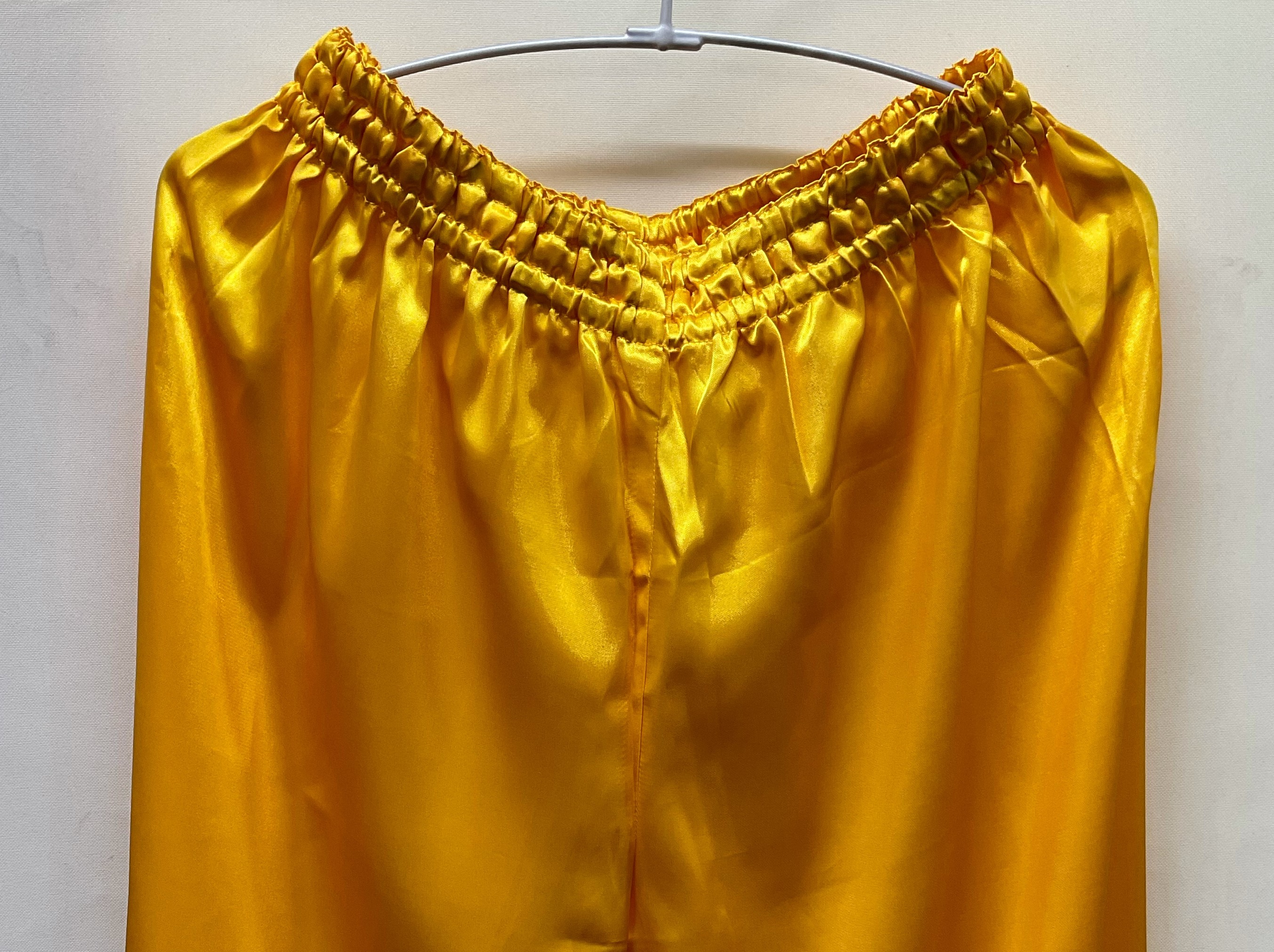 【ちょい傷特価】 サテン太極拳パンツ 黄色