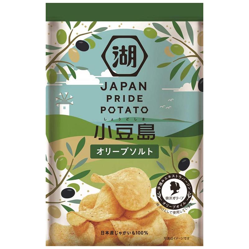 湖池屋 JAPAN PRIDE POTATO 小豆島 オリーブソルト 60g ポテトチップス 日本産 じゃがいも100% 手摘みエキストラバージンオリーブオイル