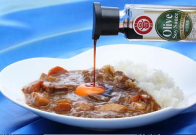 オリーブ醤油+カレーライス