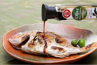 オリーブ醤油+焼き魚