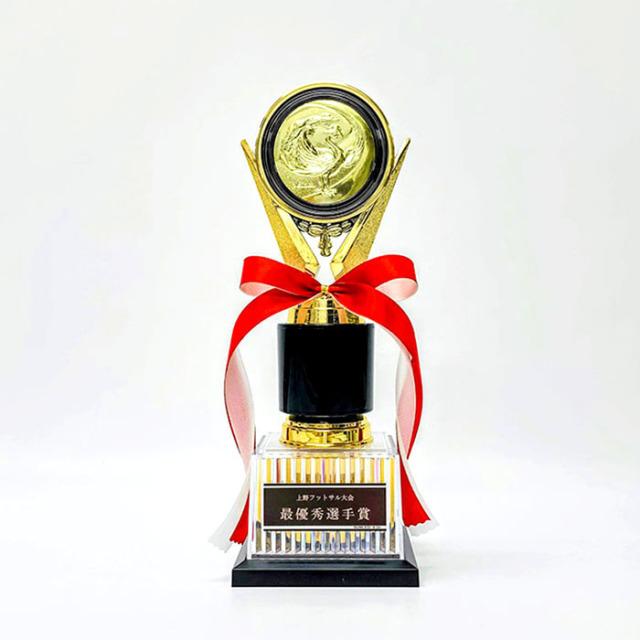 トロフィー 金属製 130種類の選べるメダル付【YBRZ-02670 Aサイズ】高さ:27.3cm 幅:9.5cm 《営業日13時までのご注文で通常翌営業日出荷》 [#B 24]〈L〉