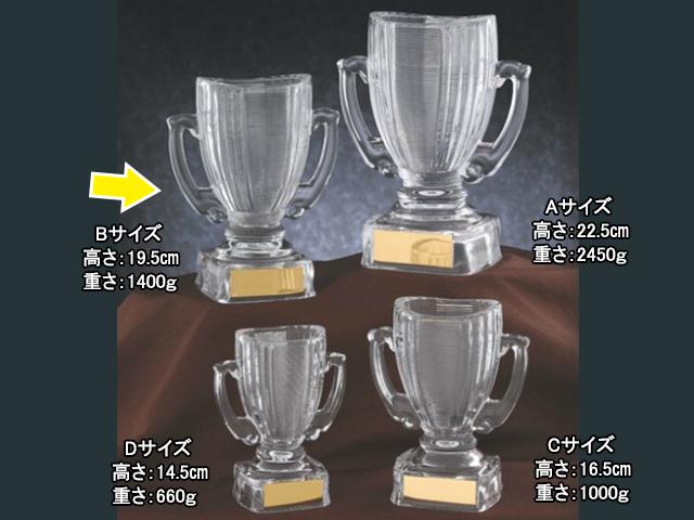 ガラス優勝カップ【KCG-07472 Bサイズ】GN-12 【E】
