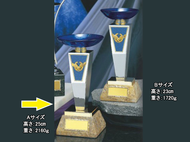 優勝カップ クリスタル・ガラス【KCG-07510 Aサイズ】高さ:25cm 口径:12cm [AGH-2]〈M〉