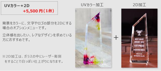 【W加工】UVカラー+内部レーザー追加加工費【背景のカラーデザインによっては内部レーザー加工が目立たなくなる場合があります】ダブル加工