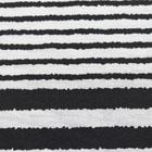 ストレッチボーダープリント生地 白×黒 【80cmパネル単位】 (p1995)