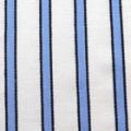 ストレッチドビーストライプ服地 オフ白×ブルー 【50cm販売】≪凄安≫  (3501-02)