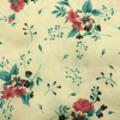 ブライトツイル花柄プリント服地