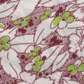 ソフトポンジー花柄プリンの服地