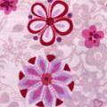 エスパンディニット花柄プリント生地