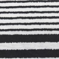 ストレッチボーダープリント生地 白×黒 はぎれ50cm (p1995)