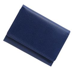 極小財布 バッファローレザー(ブルー)ベーシック型小銭入れ 水牛革 BECKER(ベッカー)日本製