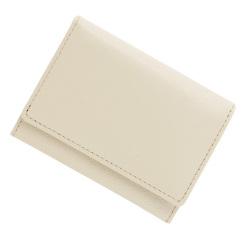 極小財布 バッファローレザー(オフホワイト)ベーシック型小銭入れ 水牛革 BECKER(ベッカー)日本製